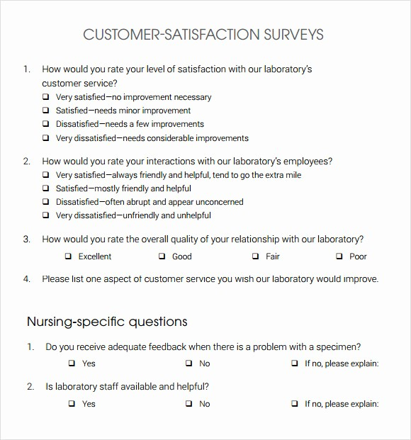 Customer Satisfaction Survey Template Free Inspirational 13 Sample Customer Satisfaction Survey Templates to