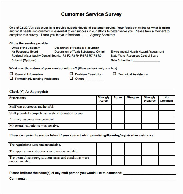Customer Satisfaction Survey Template Free Inspirational 14 Customer Satisfaction Survey Samples