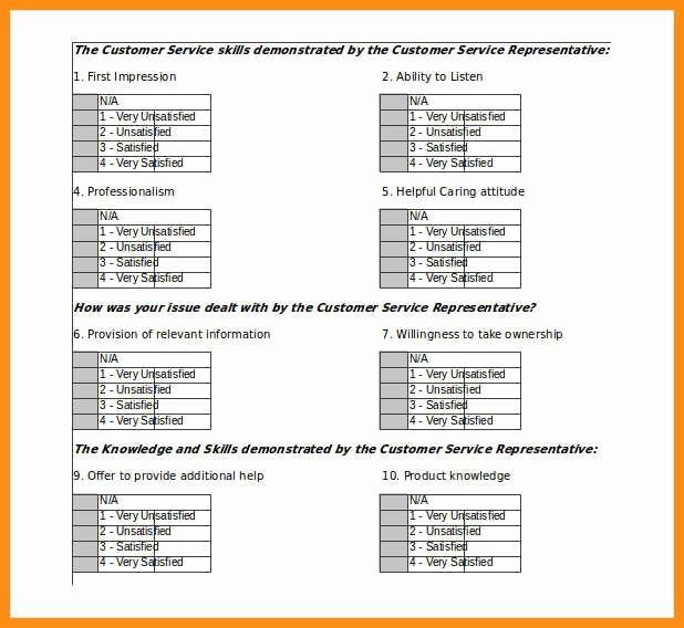 Customer Satisfaction Survey Template Free Unique 6 Customer Satisfaction Survey Template Excel