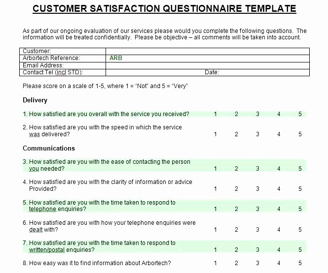 Customer Satisfaction Survey Template Word Beautiful Printable Customer Satisfaction Survey Template Word