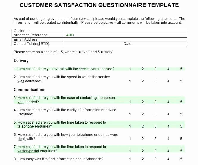 Customer Satisfaction Survey Template Word Beautiful Printable Customer Satisfaction Survey Template Word