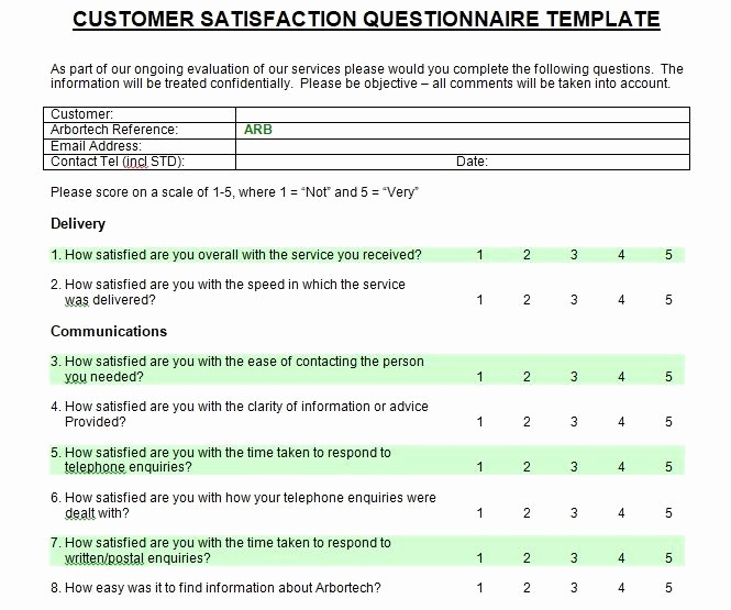 Customer Satisfaction Survey Template Word Best Of Customer Satisfaction Survey Introduction Sample