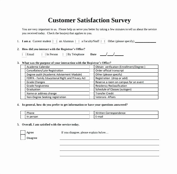 Customer Satisfaction Survey Template Word Best Of Customer Survey Template Word Customer Receipt Template