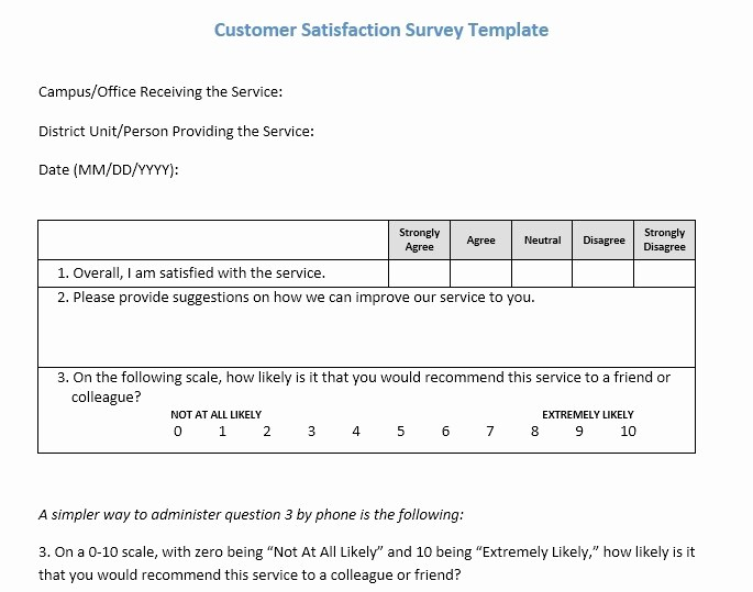 Customer Satisfaction Survey Template Word Elegant 13 Free Sample Customer Satisfaction Survey Printable