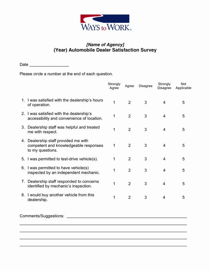 Customer Satisfaction Survey Template Word Fresh Customer Satisfaction Survey Template In Word and Pdf formats