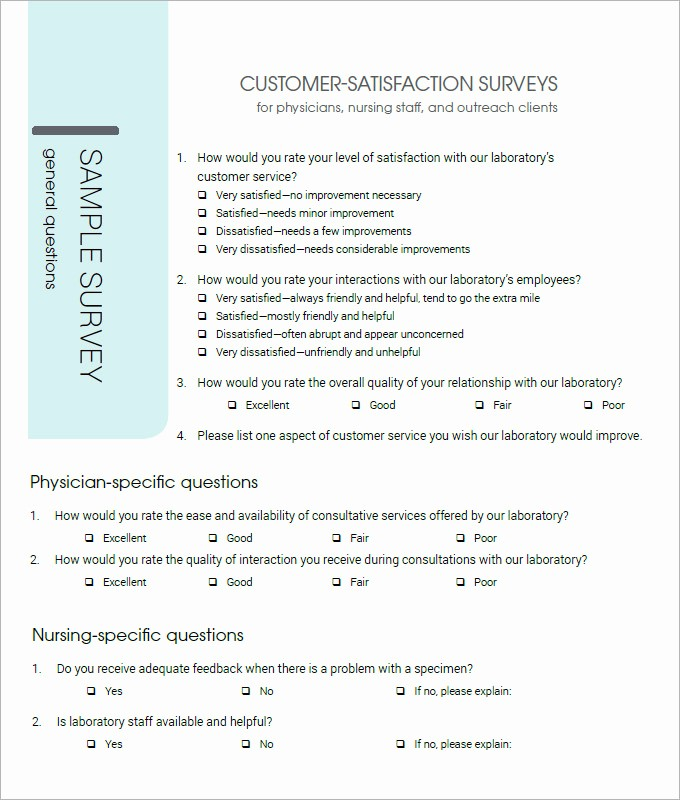Customer Satisfaction Survey Template Word Inspirational Customer Satisfaction Survey Template 10 Free Pdf Word