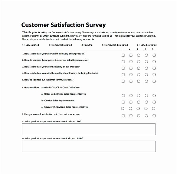 Customer Satisfaction Survey Template Word Luxury Customer Satisfaction Survey Template Word Templates Free