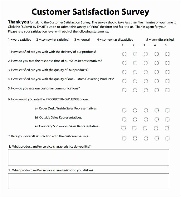 Customer Satisfaction Survey Template Word New Customer Satisfaction Survey Template Word Sample Grand