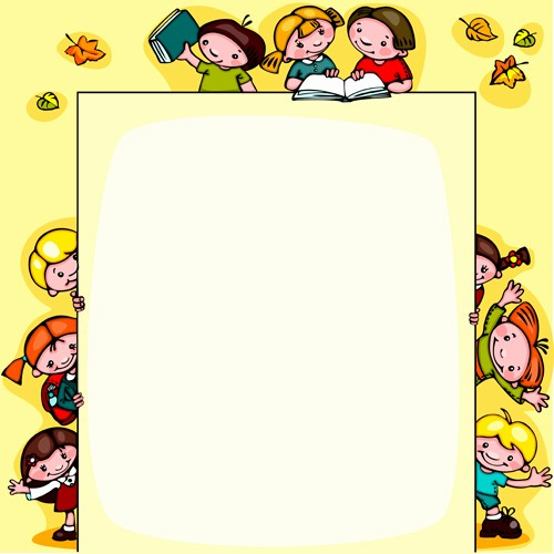 Cute School Backgrounds for Powerpoint Fresh Cartoon School Children Cute Design Vector 01 Free