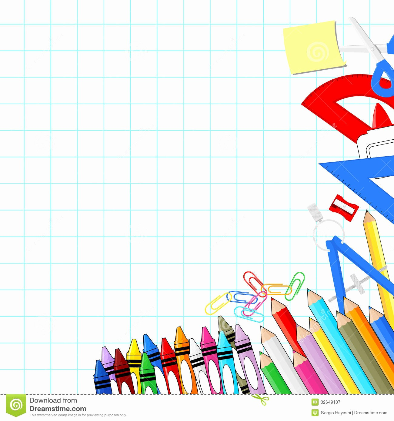 Cute School Backgrounds for Powerpoint Inspirational School Supplies Background Stock Vector Illustration Of