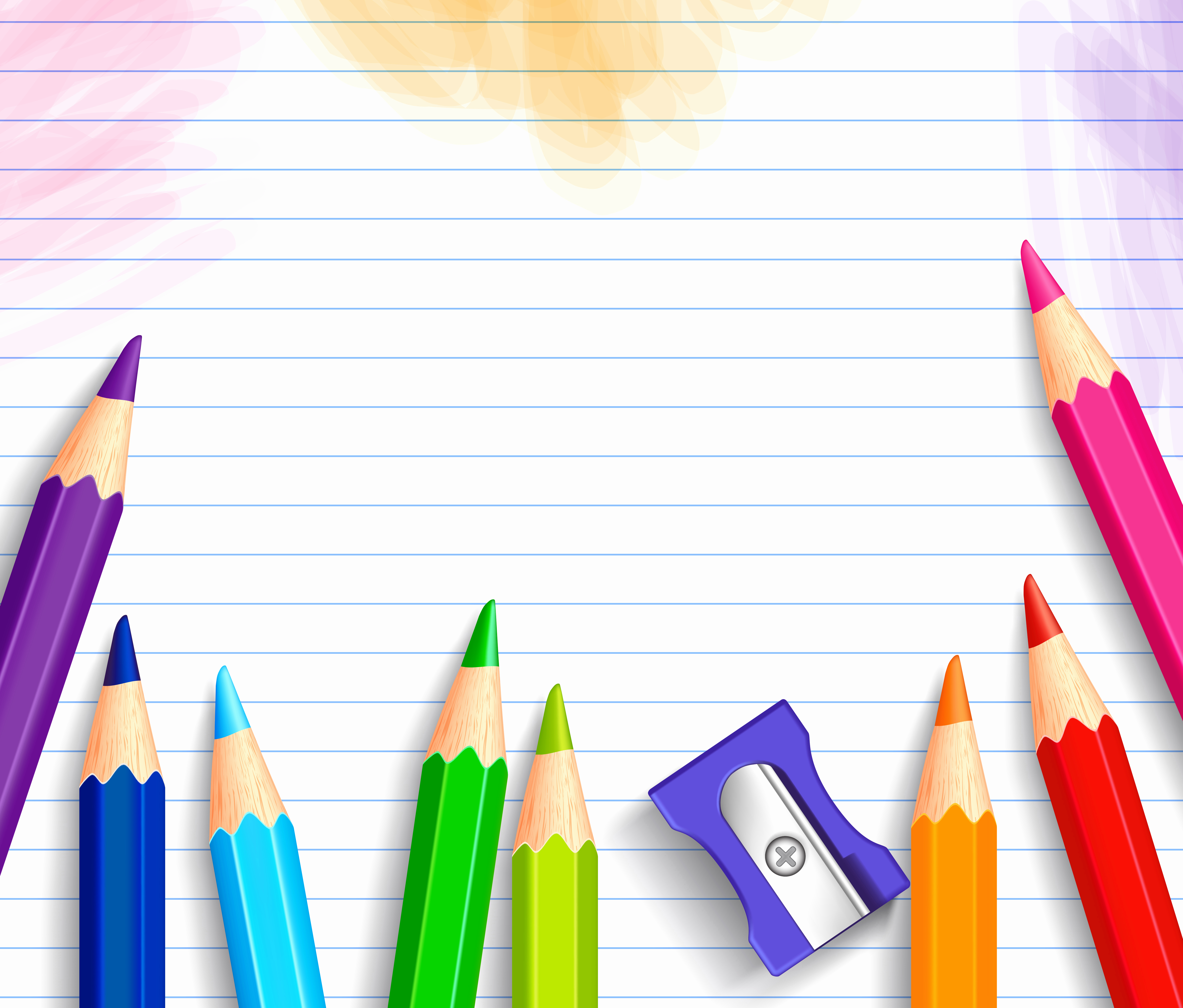 Cute School Backgrounds for Powerpoint New School Background with Pencils