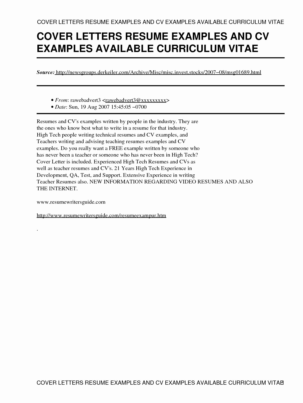 Cv and Cover Letter Template Awesome How to Write A Resume Cover Letter Sample