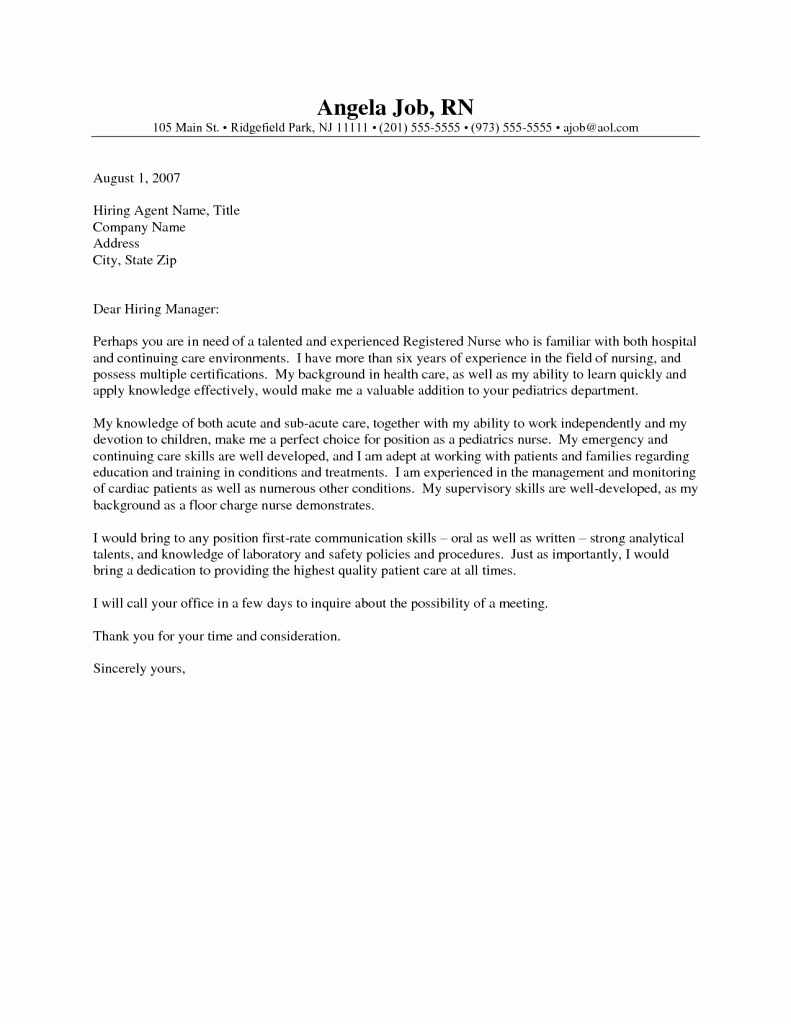 Cv and Cover Letter Template Elegant Acupuncturist Cover Letters