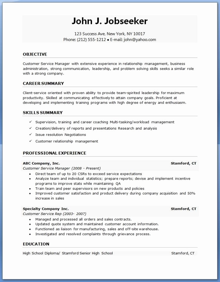 Cv format Samples In Word Awesome Resume Template Word