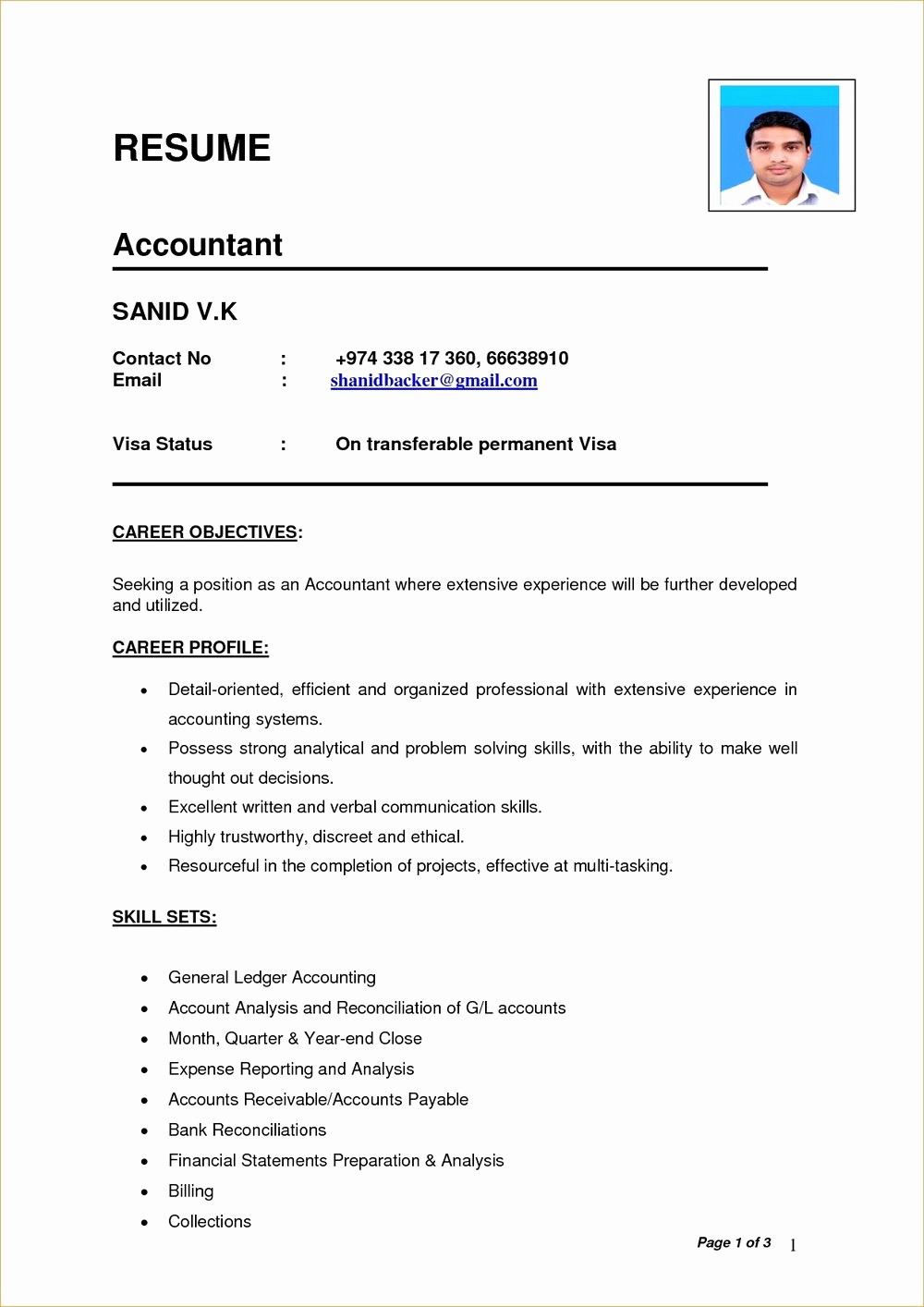 Cv format Samples In Word Elegant Simple Resume Templates for Word Resumes 201