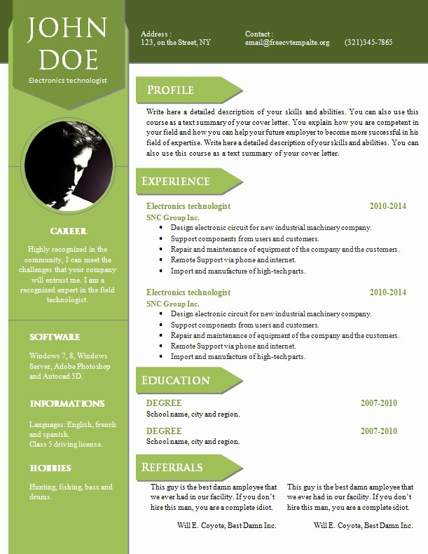 Cv format Samples In Word Fresh Curriculum Vitae Resume Word Template 904 – 910 – Free Cv