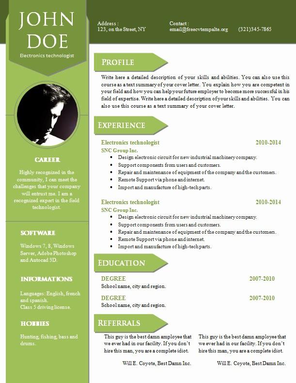 Cv format Samples In Word Fresh Curriculum Vitae Resume Word Template 904 – 910 – Free Cv