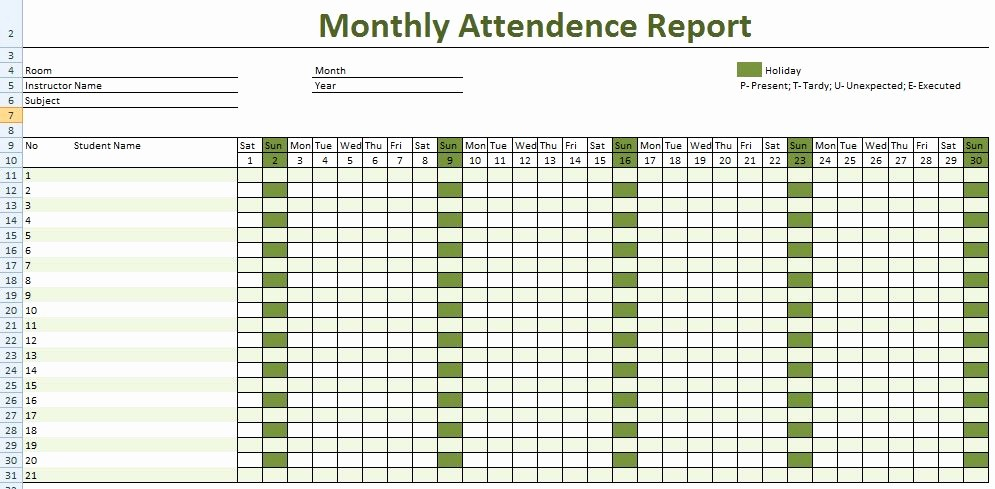 Daily attendance Sheet In Excel Awesome Daily Employee attendance Sheet In Excel Template