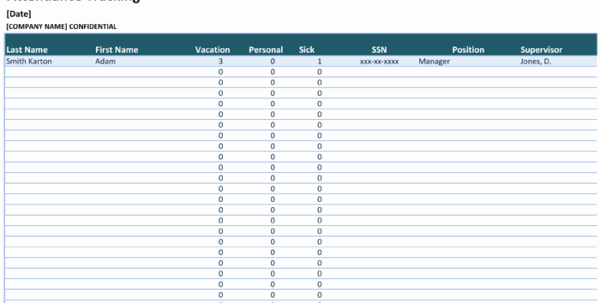 Daily attendance Sheet In Excel Elegant attendance Tracking Spreadsheet Template Tracking