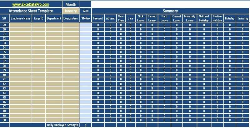 Daily attendance Sheet In Excel Elegant Download Free Hr Templates In Excel