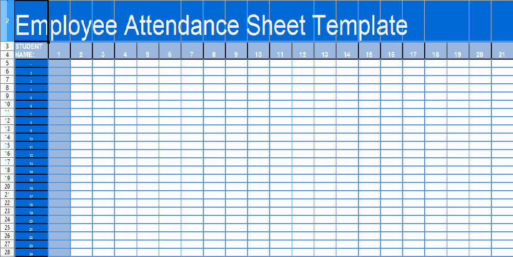 Daily attendance Sheet In Excel Fresh Daily attendance Sheet Template In Excel Xls