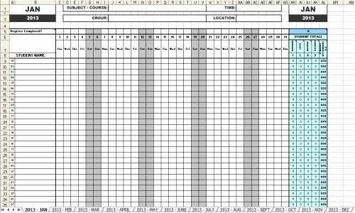 Daily attendance Sheet In Excel Unique 46 Best attendance Sheet Template Examples for Classroom