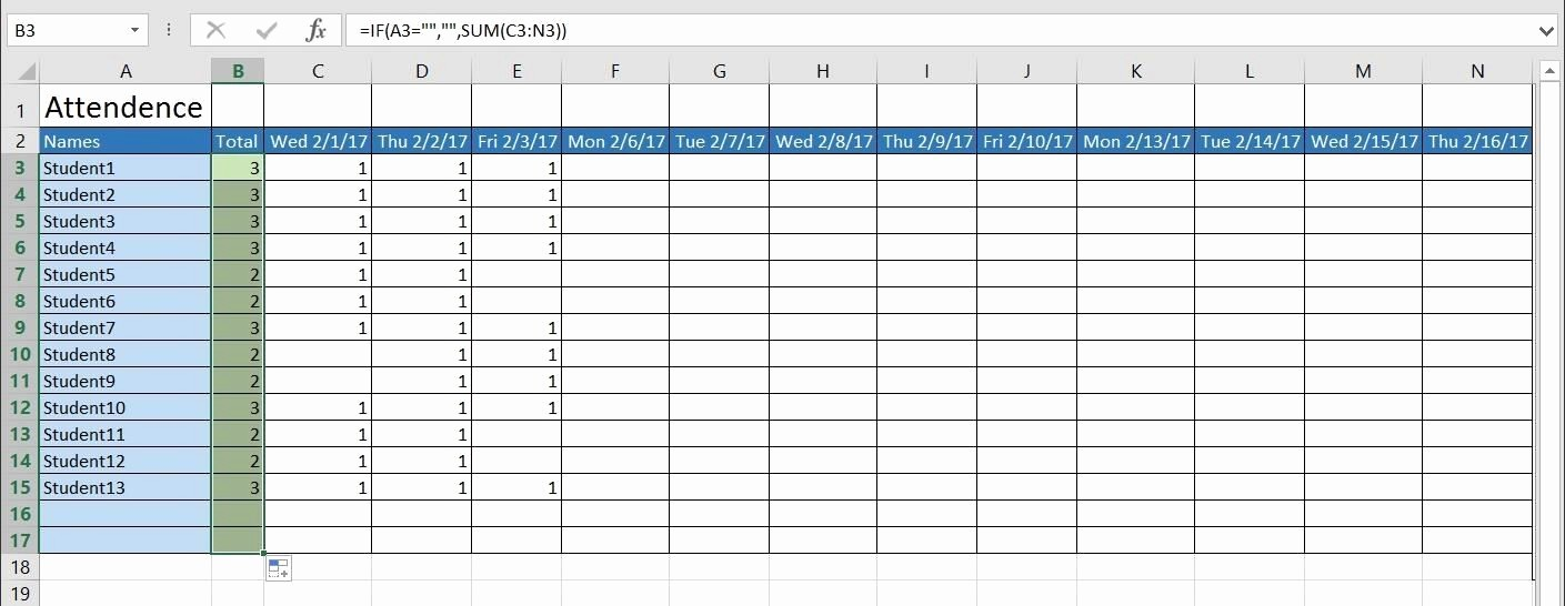 Daily attendance Sheet In Excel Unique How to Create A Basic attendance Sheet In Excel