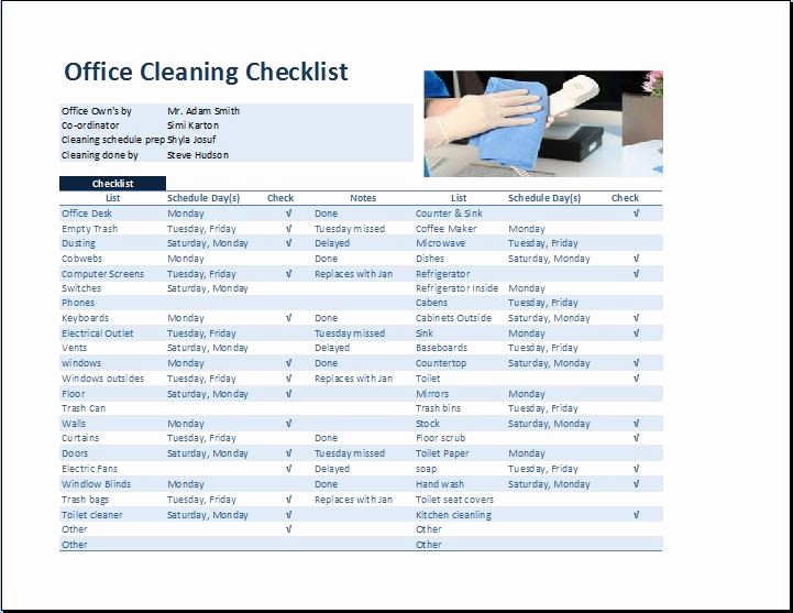 Daily Cleaning Checklist for Office Awesome Mercial Fice Cleaning Checklist Template