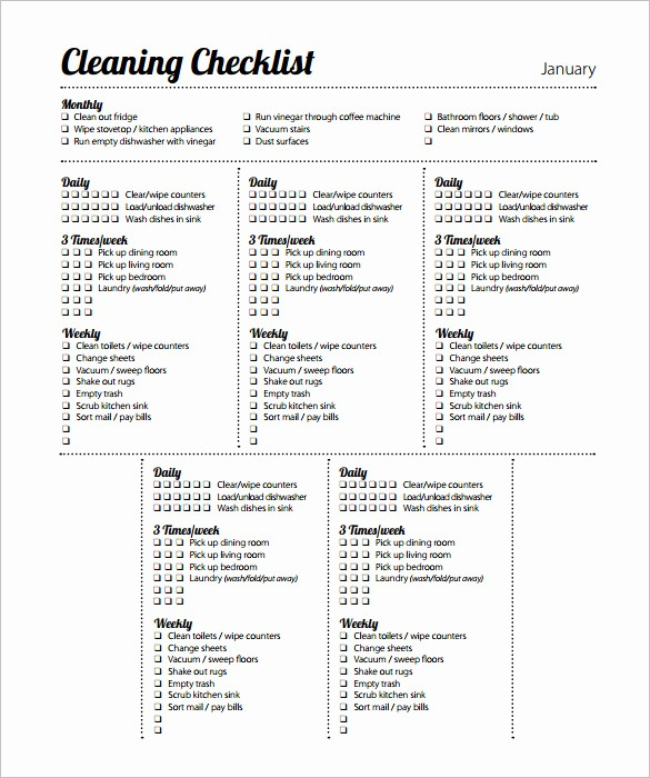 Daily Cleaning Checklist for Office Beautiful 35 Cleaning Schedule Templates Pdf Doc Xls