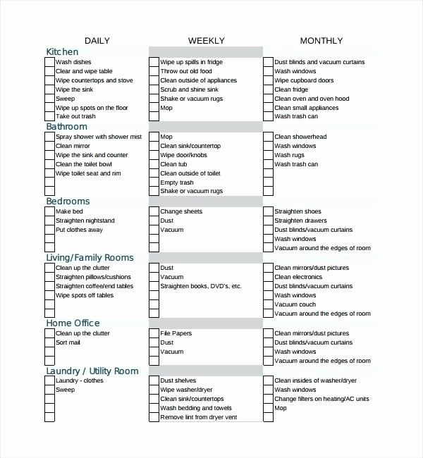 Daily Cleaning Checklist for Office Elegant Weekly Bathroom Cleaning Schedule Daily House Template