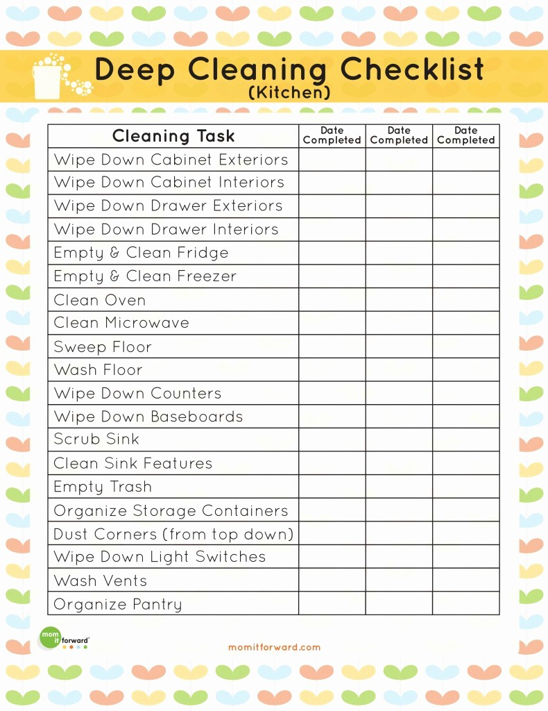 Daily Cleaning Checklist for Office Fresh Printable Kitchen Cleaning Checklist Mom It forward