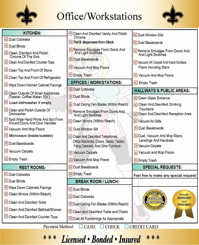 Daily Cleaning Checklist for Office New House Cleaning Checklist Daily Weekly Monthly Google