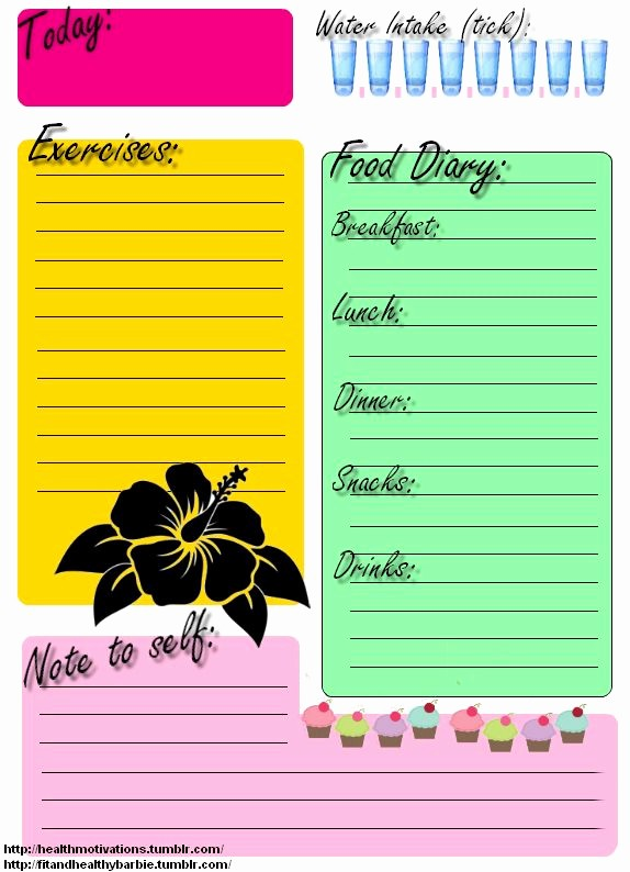 Daily Food and Exercise Log Beautiful Printable Food Journal Exercise Daily Journal there S No