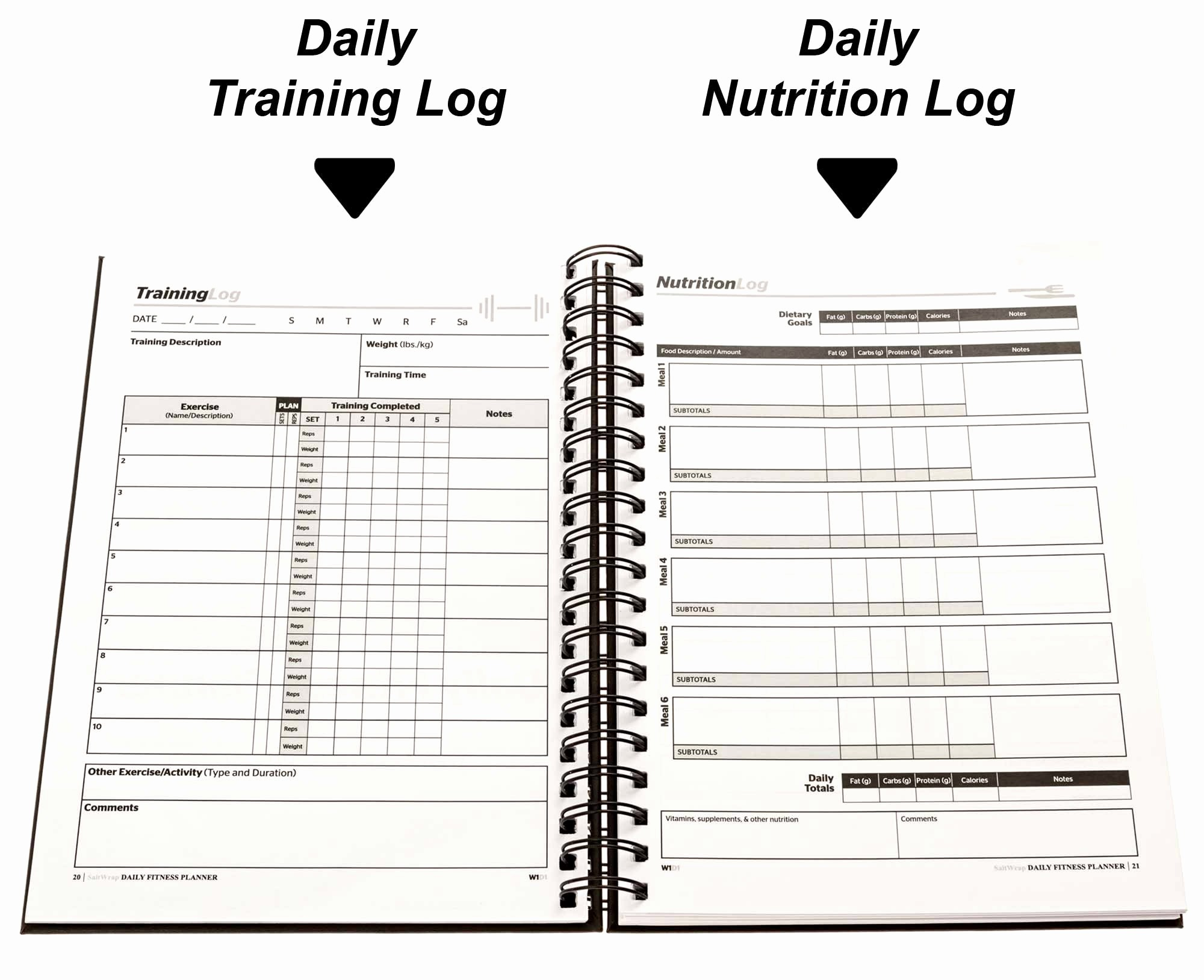 Daily Food and Exercise Log Best Of Saltwrap Daily Fitness Planner Training Log & Food