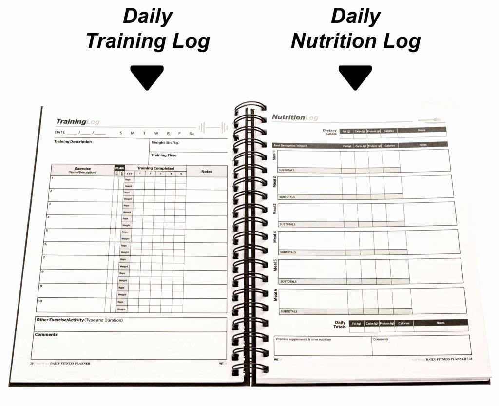 Daily Food and Exercise Log Unique Best Weight Training Log and Food Journal for Fitness