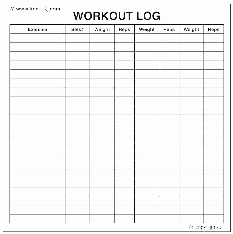 Daily Food and Exercise Log Unique T and Exercise Journal Template – Flirty