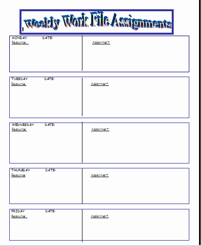 Daily Homework assignment Sheet Template Awesome Homework Tracking Chart