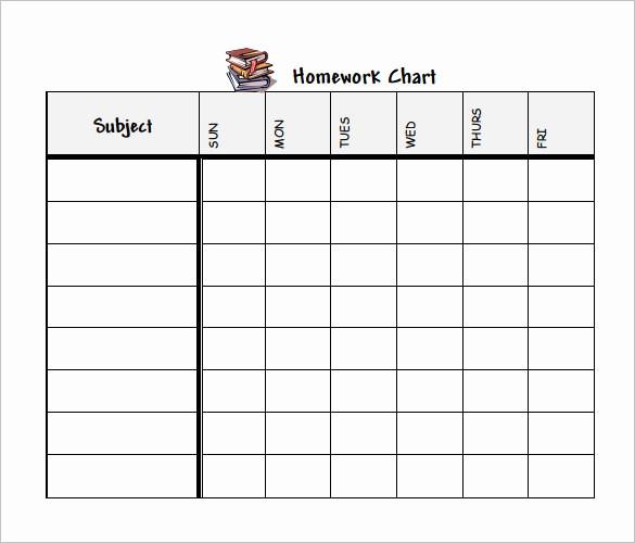 Daily Homework assignment Sheet Template Elegant 12 Homework Schedule Templates Free Word Excel Pdf