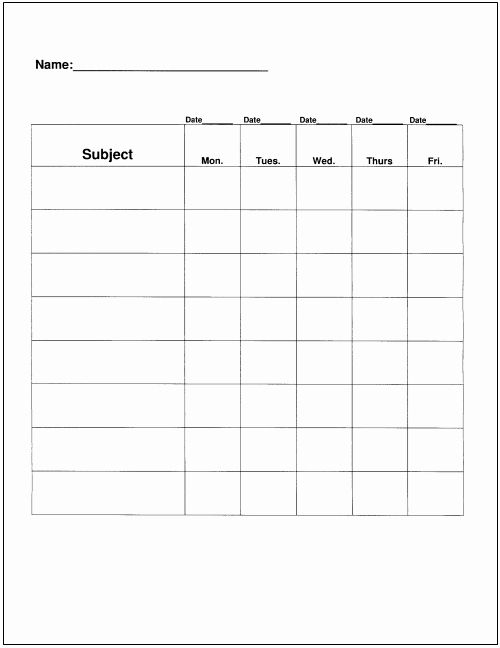 Daily Homework assignment Sheet Template Inspirational Homework Tips that Really Work for Teachers Parents and