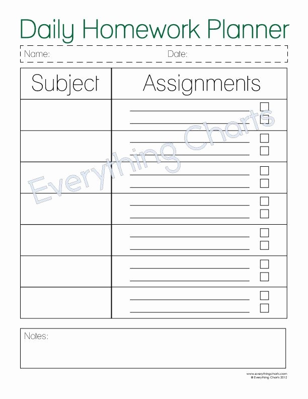 Daily Homework assignment Sheet Template New the Daily Homework Planner is A Great Way for Kids to Stay