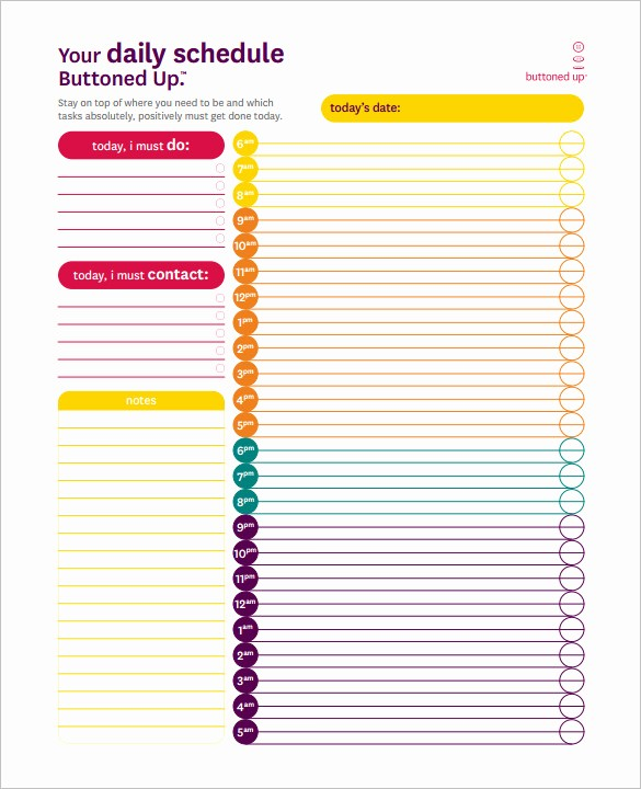 Daily Hourly Planner Template Excel Lovely 22 24 Hours Schedule Templates Pdf Doc Excel