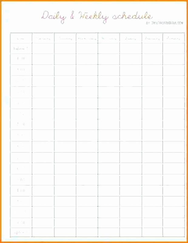 Daily Hourly Planner Template Excel Lovely 9 Hourly Schedule Template Printable Pdf – Meetwithlisafo