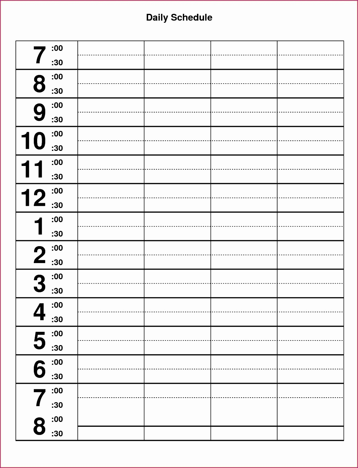 Daily Hourly Schedule Excel Template Best Of 10 Excel Hourly Schedule Template Exceltemplates