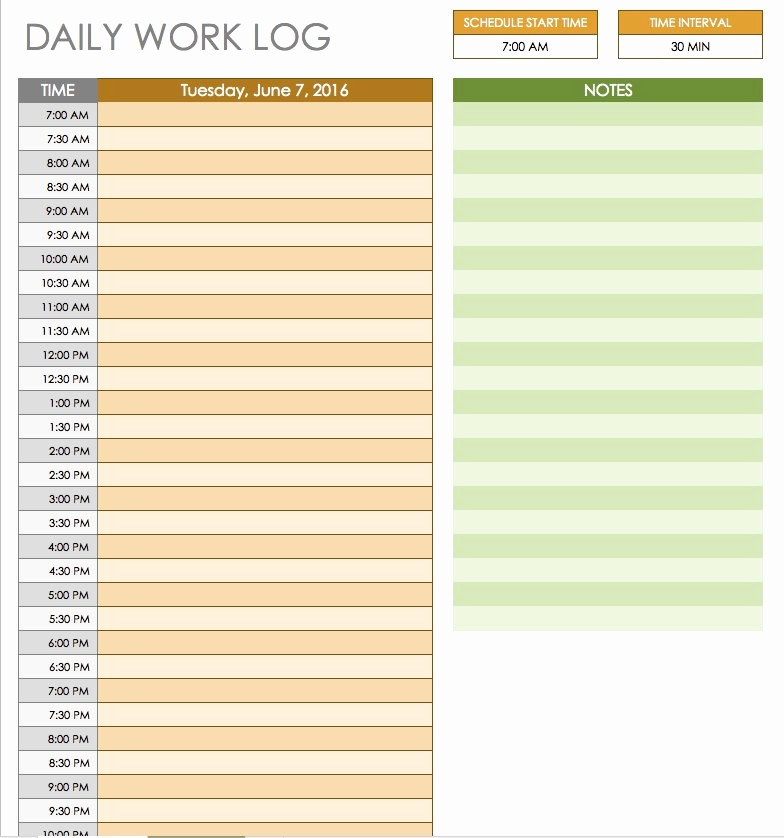 Daily Hourly Schedule Template Excel Awesome Free Daily Schedule Templates for Excel Smartsheet