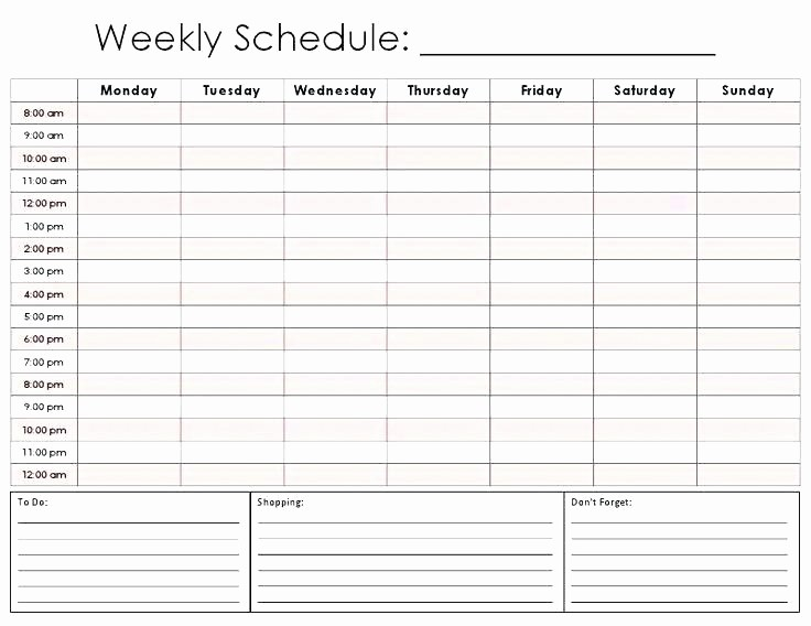 Daily Hourly Schedule Template Excel Luxury Daily Planner Calendar Template Excel 8 Best