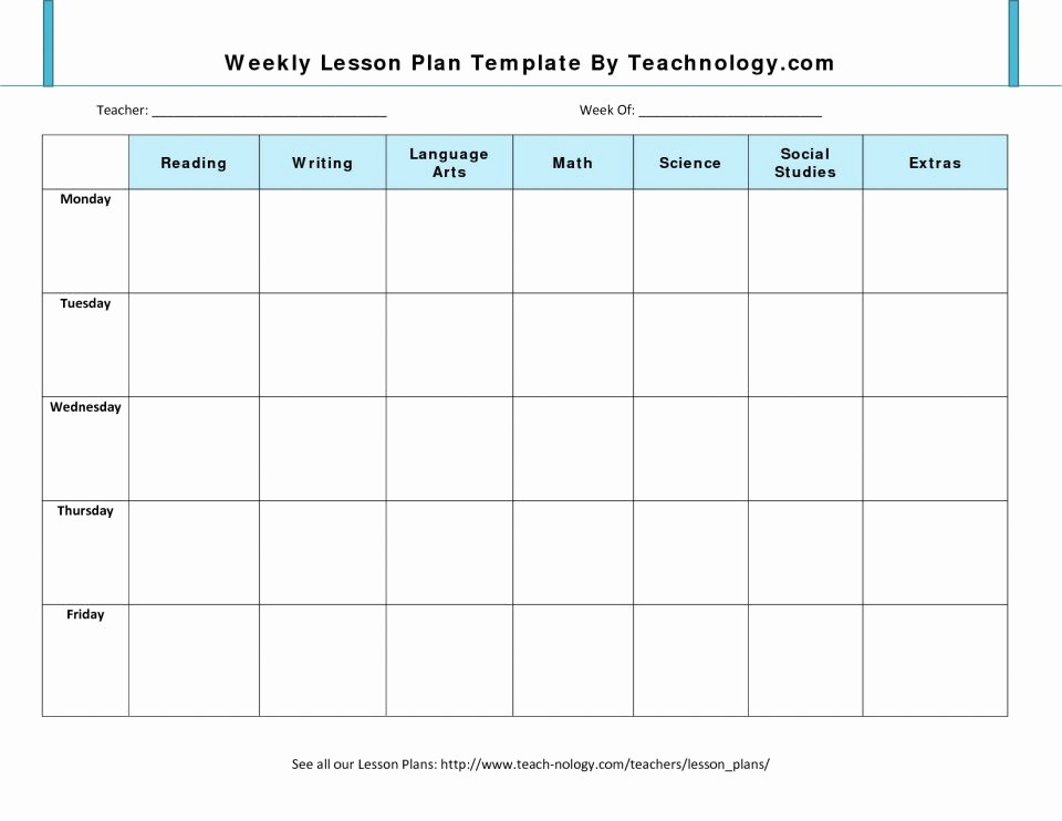 Daily Planner Template Google Docs Beautiful Free Blank Lesson Plan Templates Bussines Proposal