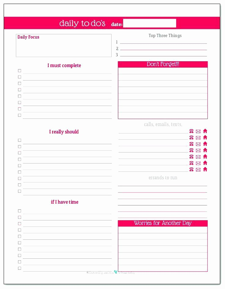 Daily Planner Template Google Docs Fresh Day Planner Printable Daily by Template Meal Word