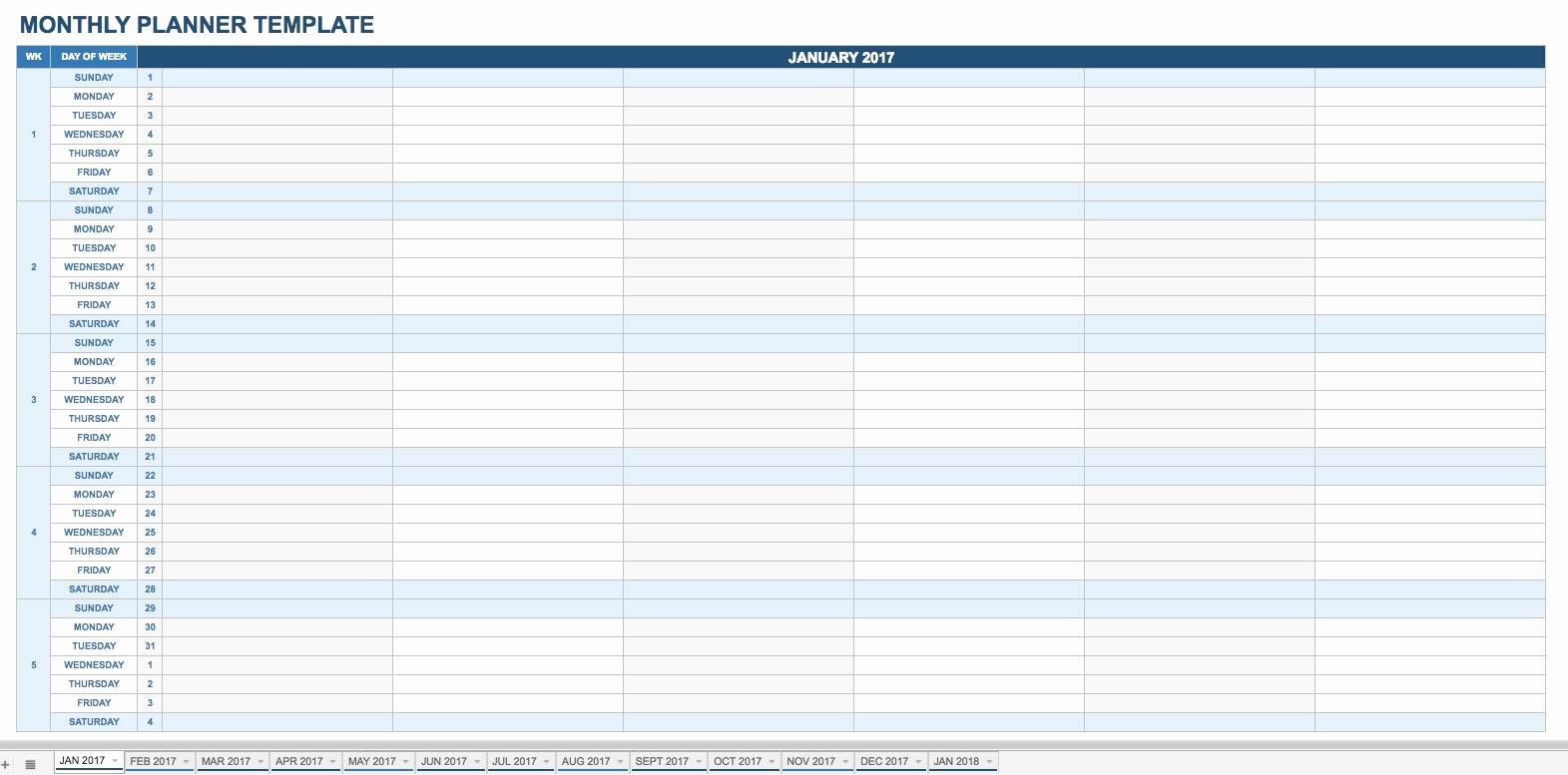 daily calendars templates