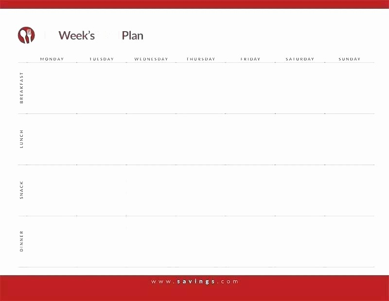 Daily Planner Template Google Docs Inspirational Printable Monthly Menu Planner Meal Calendar Template