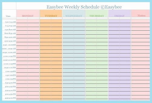 Daily Planner Template Google Docs New Weekly Schedule Template Google Docs